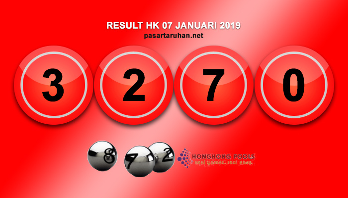 RESULT HONGKONG 07 JAN 2019
