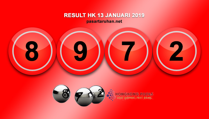 RESULT HONGKONG 13 JAN 2019