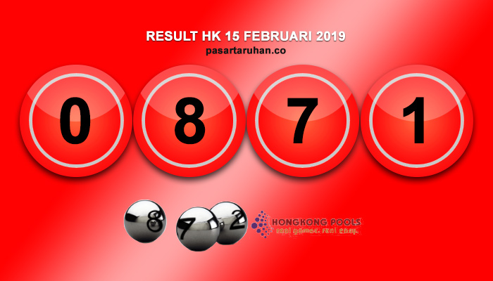 RESULT HONGKONG 15 FEB 2019