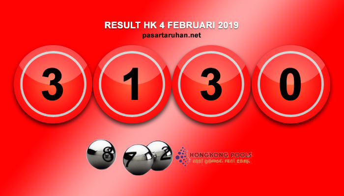RESULT HONGKONG 4 FEB 2019