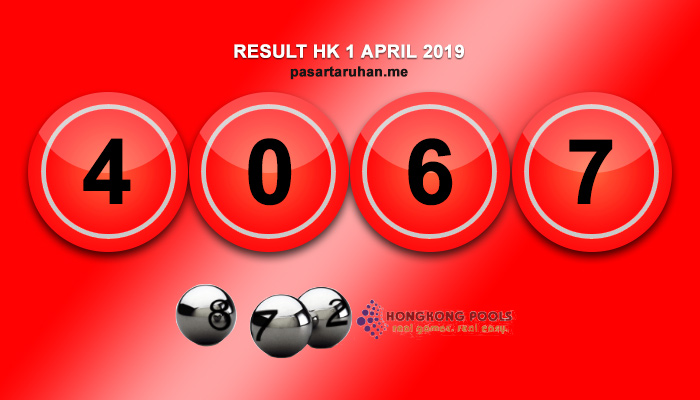 RESULT HONGKONG 1 APR 2019