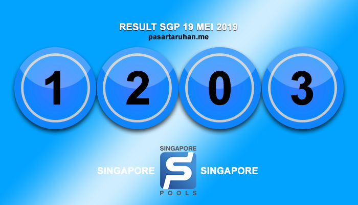 RESULT SINGAPORE 19 MEI 2019