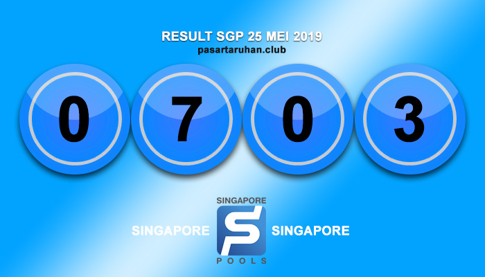 RESULT SINGAPORE 25 MEI 2019