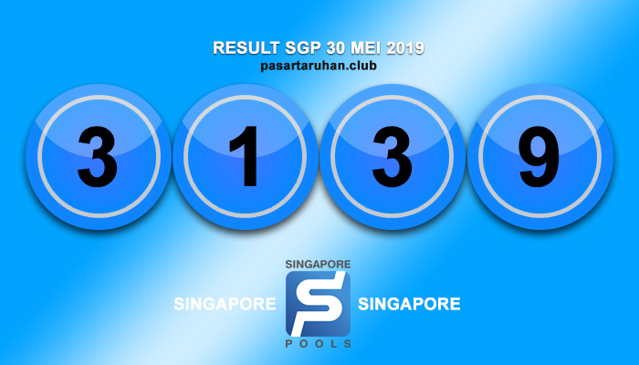 RESULT SINGAPORE 30 MEI 2019