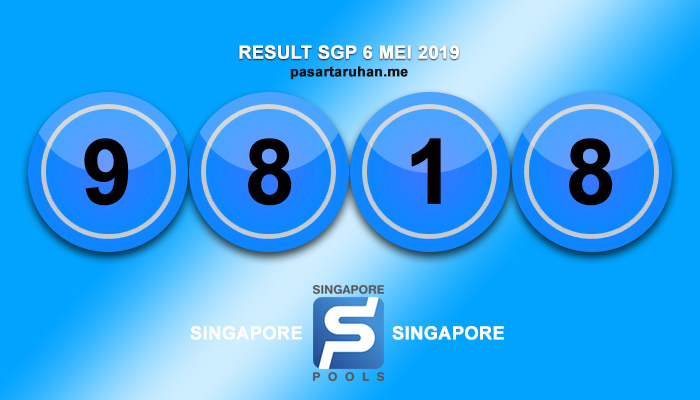 RESULT SINGAPORE 6 MEI 2019