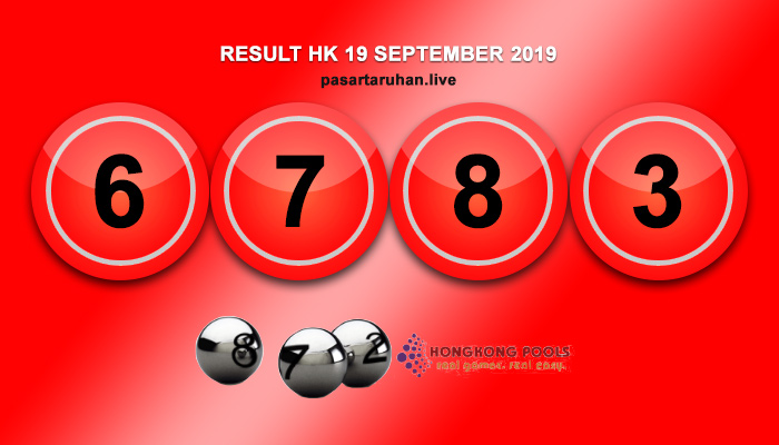 RESULT HONGKONG 19 SEPTEMBER 2019