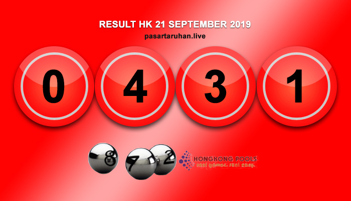 RESULT HONGKONG 21 SEPTEMBER 2019