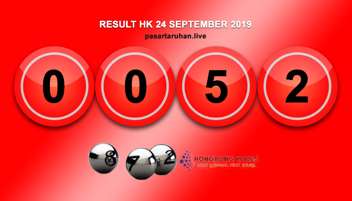 RESULT HONGKONG 24 SEPTEMBER 2019