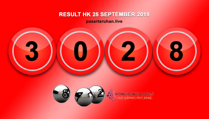 RESULT HONGKONG 25 SEPTEMBER 2019