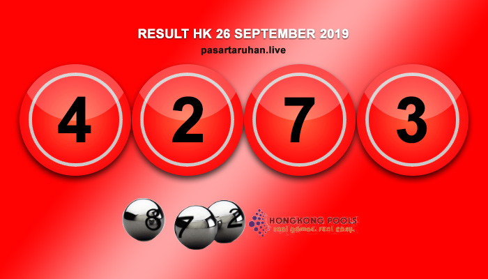 RESULT HONGKONG 26 SEPTEMBER 2019