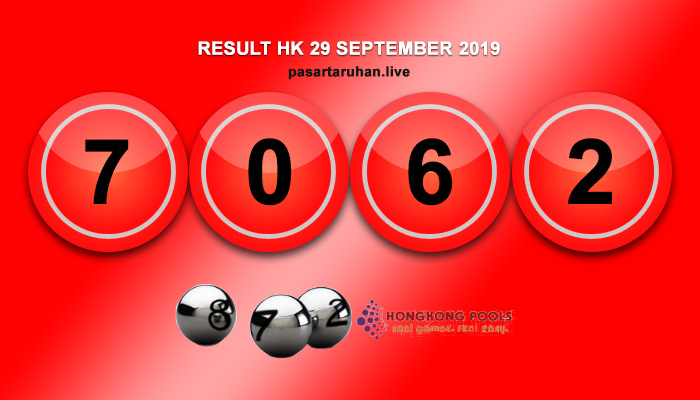 RESULT HONGKONG 29 SEPTEMBER 2019