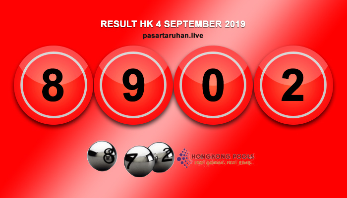 RESULT HONGKONG 4 SEPTEMBER 2019