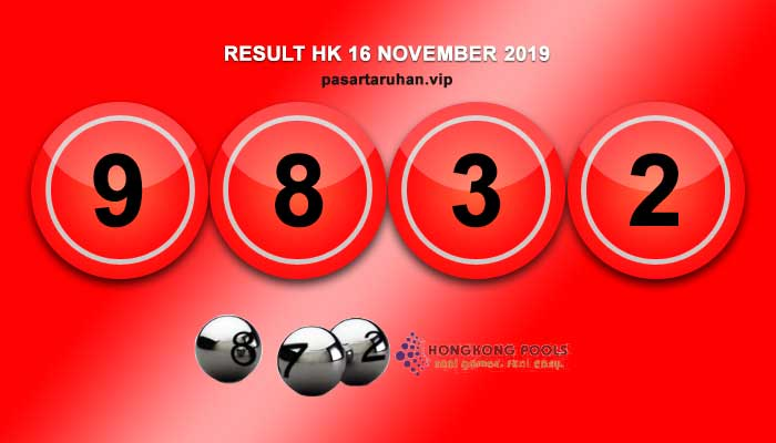 RESULT HONGKONG 16 NOVEMBER 2019