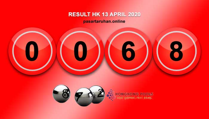 RESULT HONGKONG 13 APRIL 2020