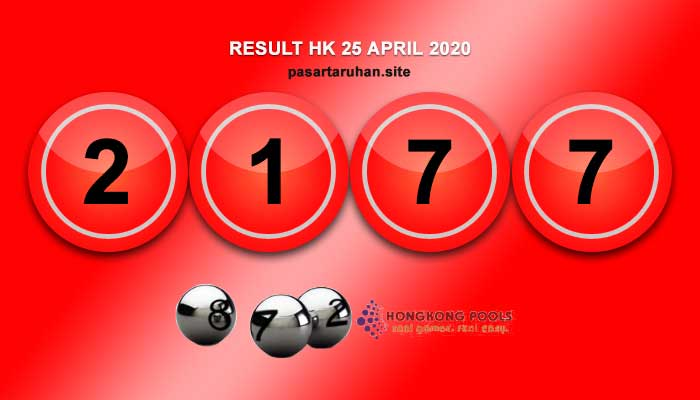 RESULT HONGKONG 25 APRIL 2020